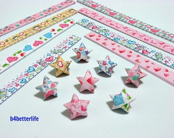 250 strips of DIY Origami Lucky Stars Paper Folding Kit. 26cm x 1.2cm. #A032. (XT Paper Series).