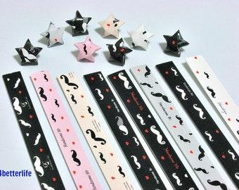 250 strips of DIY Origami Lucky Stars Paper Folding Kit. 26cm x 1.2cm. #C140. (XT Paper Series).