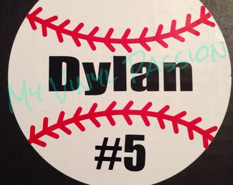 Baseball Decal Etsy - Personalized car decals