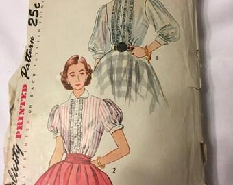 Simplicity 3799 Size 12 Bust 30 Blouse Pattern -1951