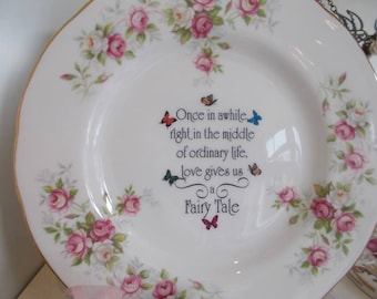 Vintage China 'Fairy Tale' Decorated Plate - Only 1 Available