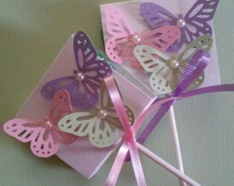 Butterfly Garden Birthday Lollipop Favors