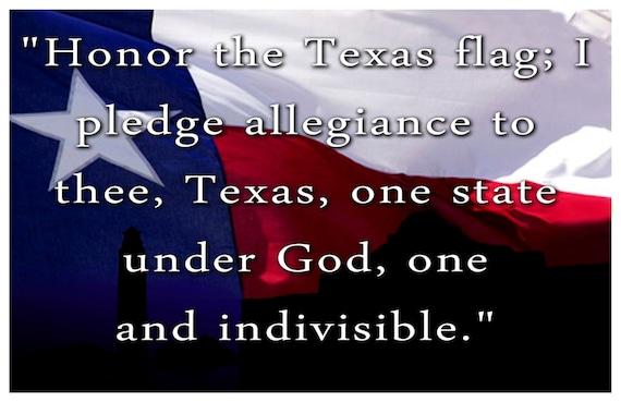 Universal image in texas pledge printable