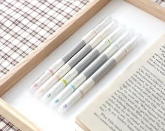 5pcs Twin Deco Pens Set [ Pastel Version ] / Two ways Deco Pens Set / 101220259