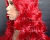 New Halloween Wig * Sexy Celebrity Rihanna Inspired Long Body Wave Red Wig w/ Baby Hairs * Mermaid Ariel Wig * Poison Ivy Wig * Costume Wig