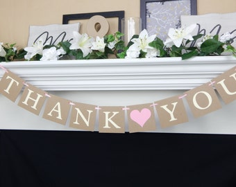 Thank you banner, wedding banners, thank you photos, wedding sign, photo prop banner, wedding thank yous, thank you sign, wedding thank you