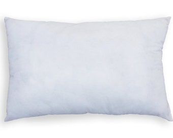 12x20 Rectangle Pillow Insert, Lumbar Pillow, Inside Pillow, Completely Full and Firm, not empty or loose.