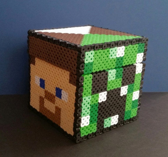 Items similar to Gaming Beads Minecraft Faces Storage