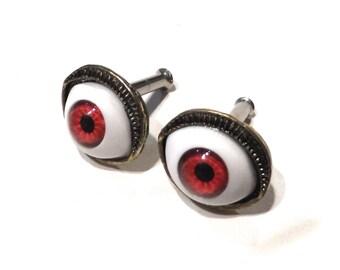 10g Eyeball Plug Earrings