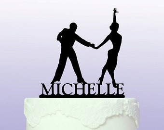 Latin Dancers Cake Topper