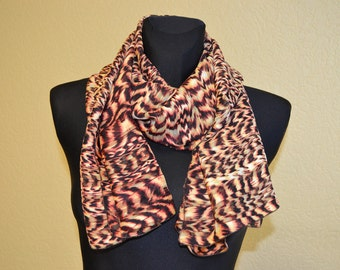 "Silk chiffon scarf  ""SABINE"" -  scarf for women -  scarves"