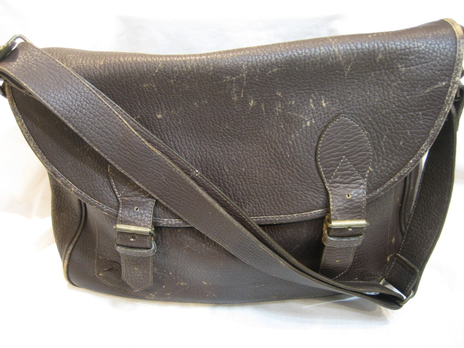 Banana Republic Vintage Leather Briefcase Laptop by CLASSYBAG
