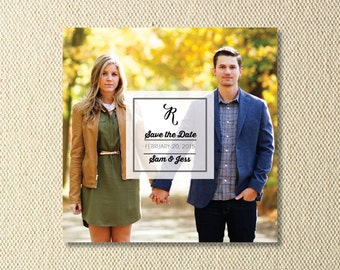 Printable Square Save The Date Photo Card
