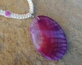 Tie-Dye Agate Gemstone, Hemp Necklace, Hippie Girl Jewelry, Genuine Gemstones, Tie Dye, Gift for Her, Free Shipping in USA