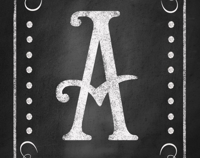 DIY Printable Rustic Chalkboard Style CUSTOM Wedding banner -  your choice of letters