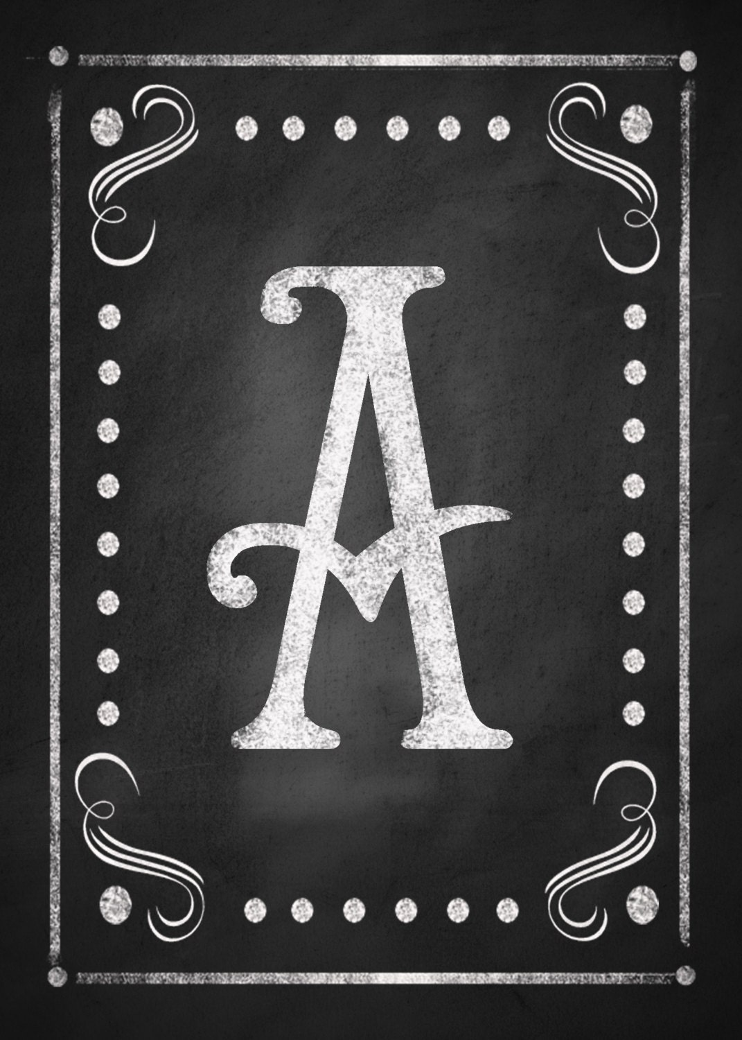 This is a graphic of Impeccable Printable Chalkboard Letters