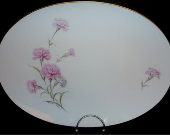 """14"""" platter in Royal Court China's  Carnation pattern"""