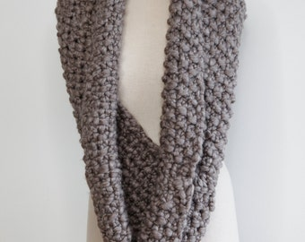 Stone colored infinity scarf