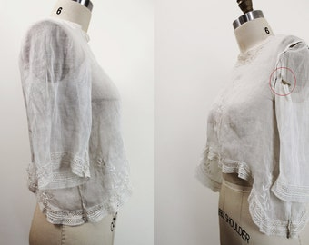 Edwardian blouse xs