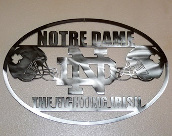 Popular items for fooball on etsy for Notre dame home decor