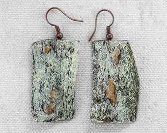 Organic Earrings - from succulent plant - handmade with colour
