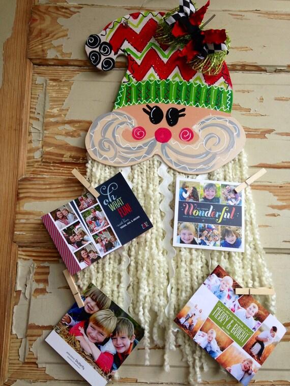 Santa Christmas Card Door Hanger