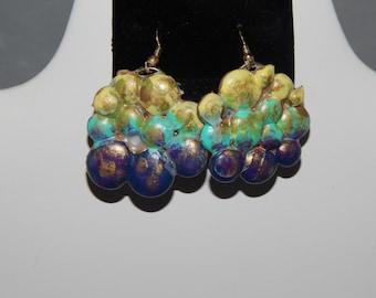 Multicolored Hot Glue Earrings