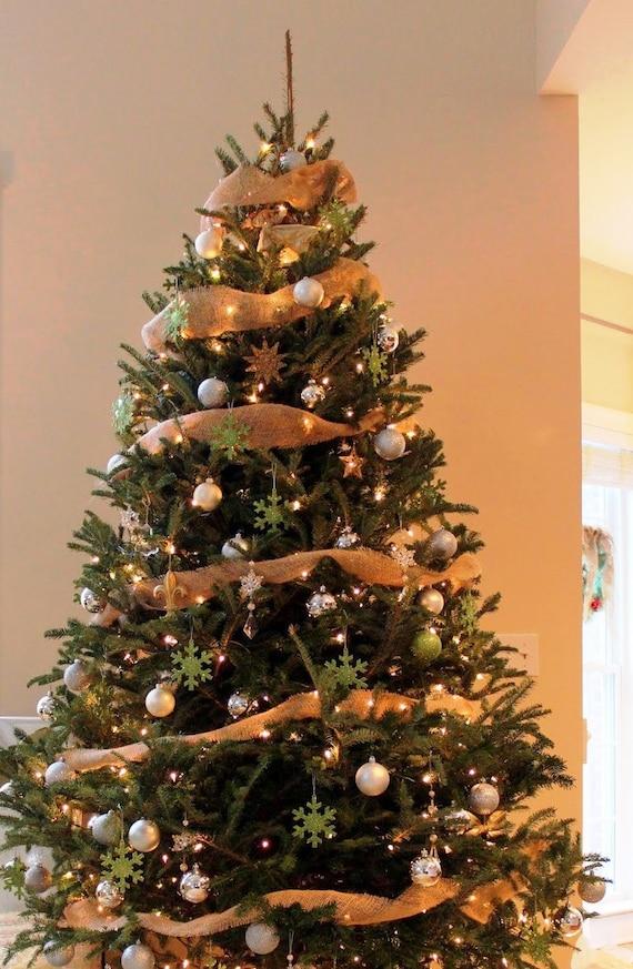Burlap Hessian Ribbon Rustic Christmas For Tree By