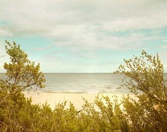 Florida Sandy Beach Atlantic Seascape Photography Lonely beach view