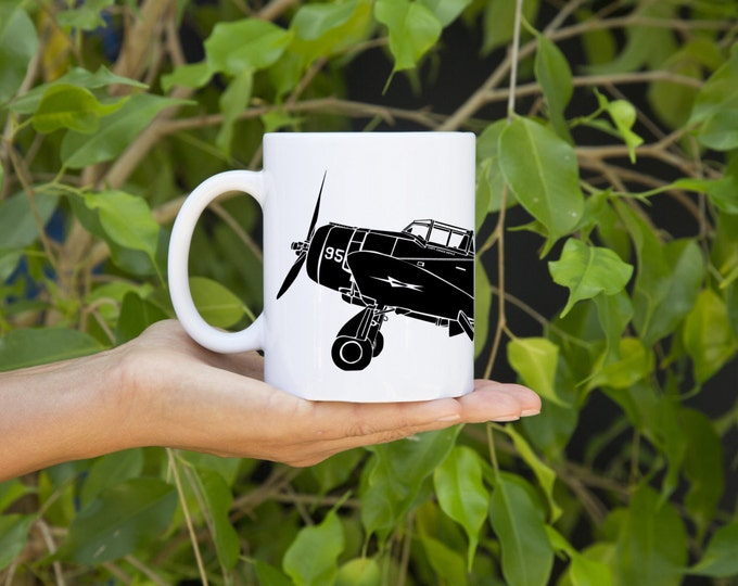 KillerBeeMoto:  U.S. Made Coffee Mug Seversky P-35A Fighter Plane Coffee Mug