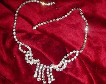 1950s Glamorous Rhinestone Necklace