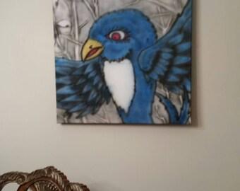 Blue raven art