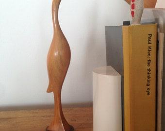 Vintage wood carved bird