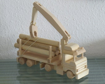 Truck timber transport truck  wooden car very rare handmade XXL