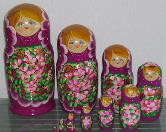 Babushka Matryoshka Matryoshka Russian Dolls Matruschka 10 pcs 10 pcs