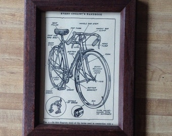 Bicycle Diagram Picture Frame