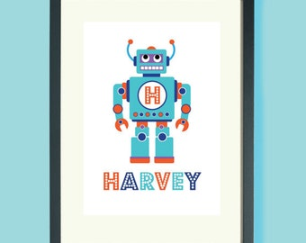 A3 Personalised Robot Prints