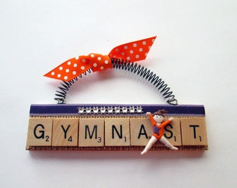 Gymnastics Scrabble Tile Ornament