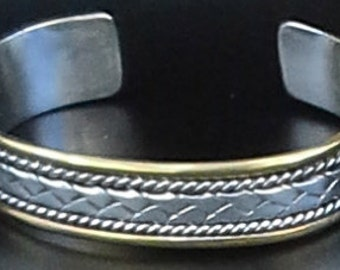 Vintage Sterling silver mexican cuff bracelet