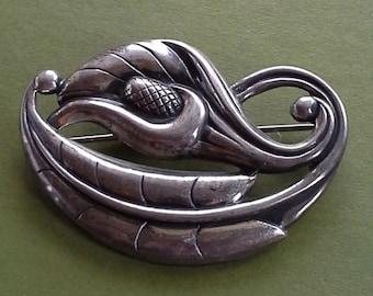 vintage sterling silver brooch Calla lily  Danecraft