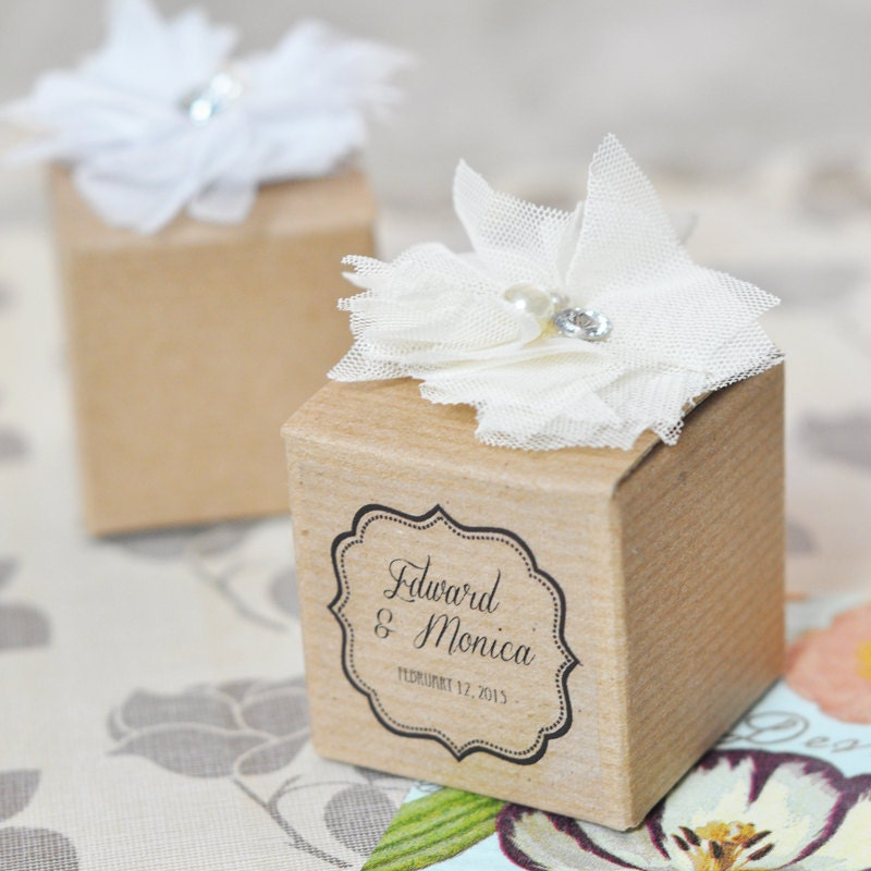 Rustic Wedding Favor Boxes Shabby Chic Favor Box By ModParty