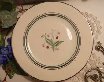 "Set of 4 Vintage Syracuse China Coralbel 8"" Dessert Salad Plates"