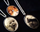 Custom Picture Necklace, CustomPhotoNecklace/Memorial Photo charm,Memory Gift,Wedding Gift,Photo Keepsake,In Loving Memory, Sentimental Gift