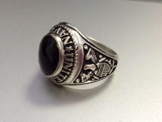 Vintage Sterling Silver United States Navy Class Ring By