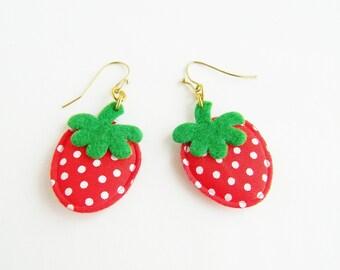 Cute Handmade Strawberry Kawaii Earrings