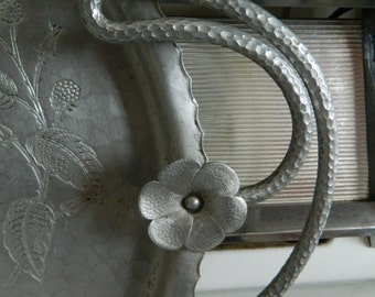 Farberware extra large Aluminum tray / cupcake serving tray / appetizer server / large wall decor