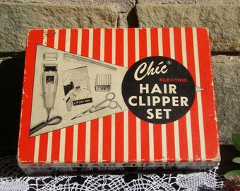 Vintage Hair Clippers Home Barber Chic Electric Hair Clipper Set 1185X By Morris Struhl Inc.
