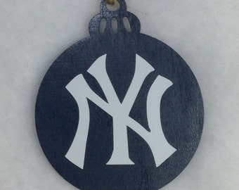 Yankees Christmas Ornament Double Sided