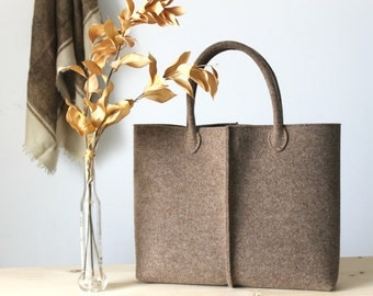 Special Discount: ORIGINAL PRICE 92,67 DOLLARS - Elegant and Casual Felt Bag from Italy, Tote Bag, Felted bag, Market Bag, Felt Tote.