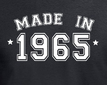 Made in 1965 50th Birthday Gift Pre sent T Shirt T-Shirt Tshirt Tee ...